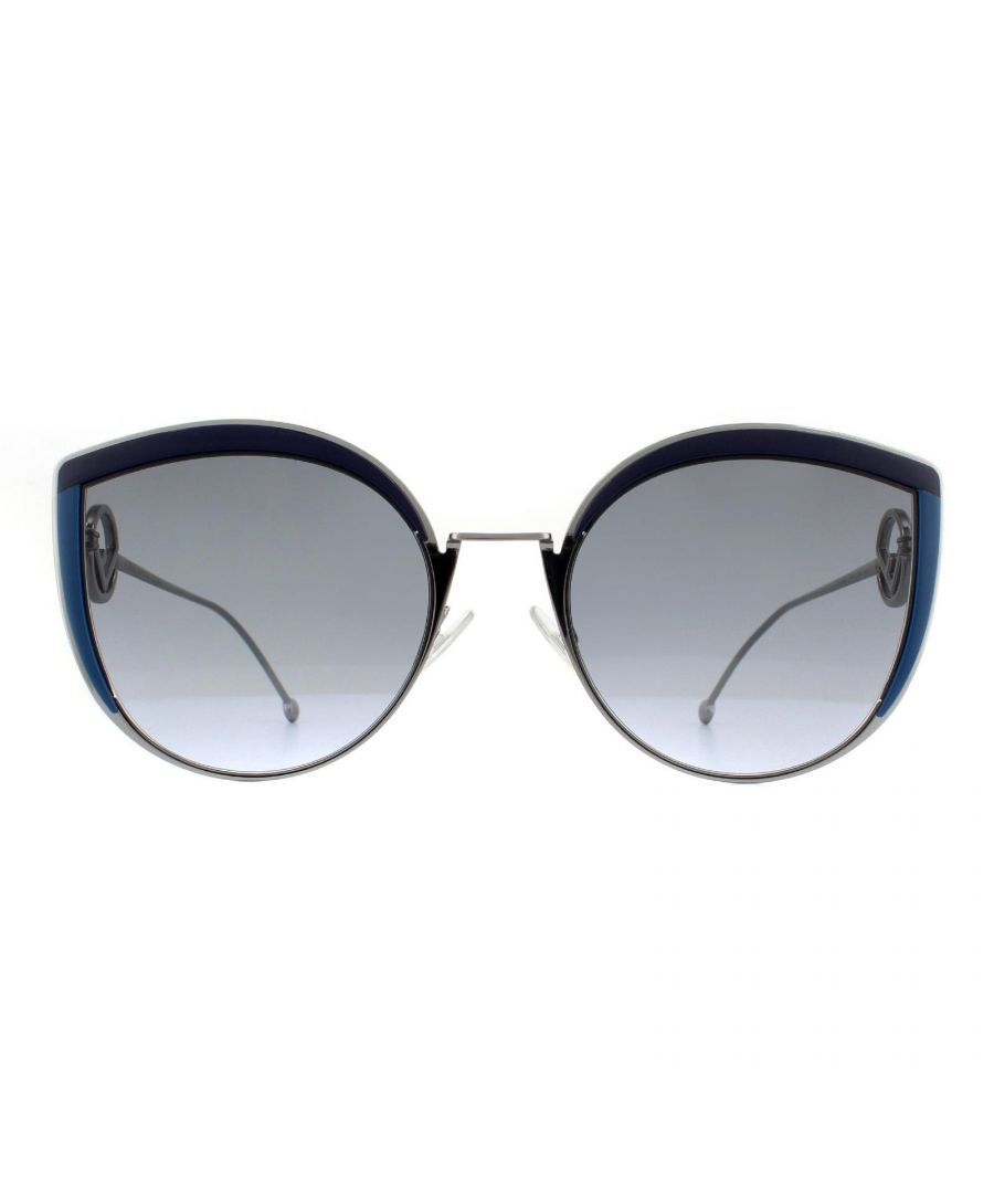 Image for Fendi Sunglasses FF 0290/S PJP GB Blue and Silver Grey Gradient