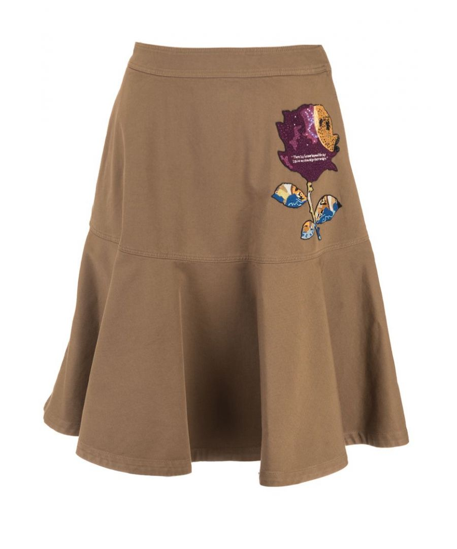 Image for VALENTINO WOMEN'S SB0RA02A2Q9B96 BROWN COTTON SKIRT