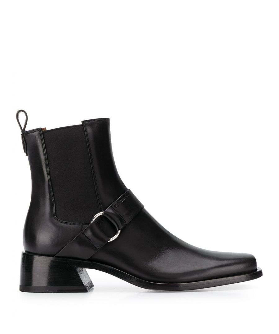 Image for GIVENCHY MEN'S BH601GH0K5001 BLACK LEATHER ANKLE BOOTS
