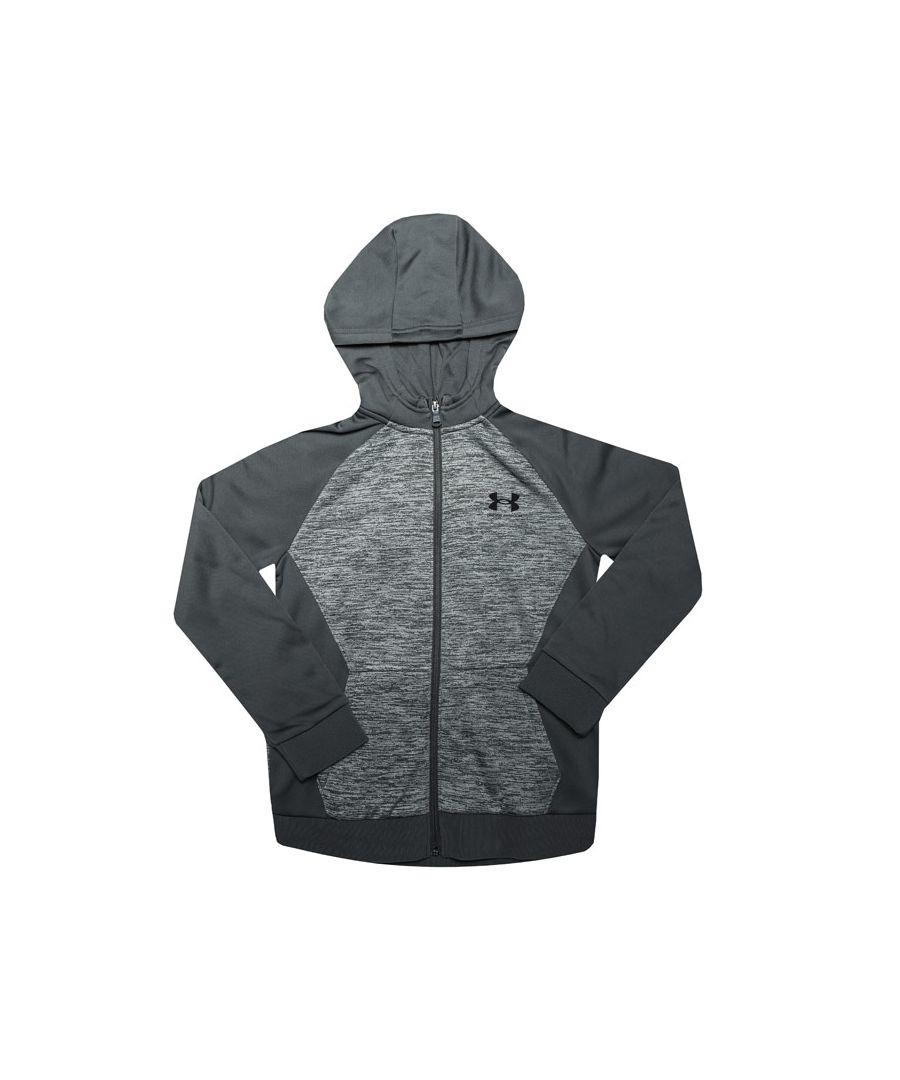 Image for Boys' Under Armour Junior AF Zip Hoodie in Grey
