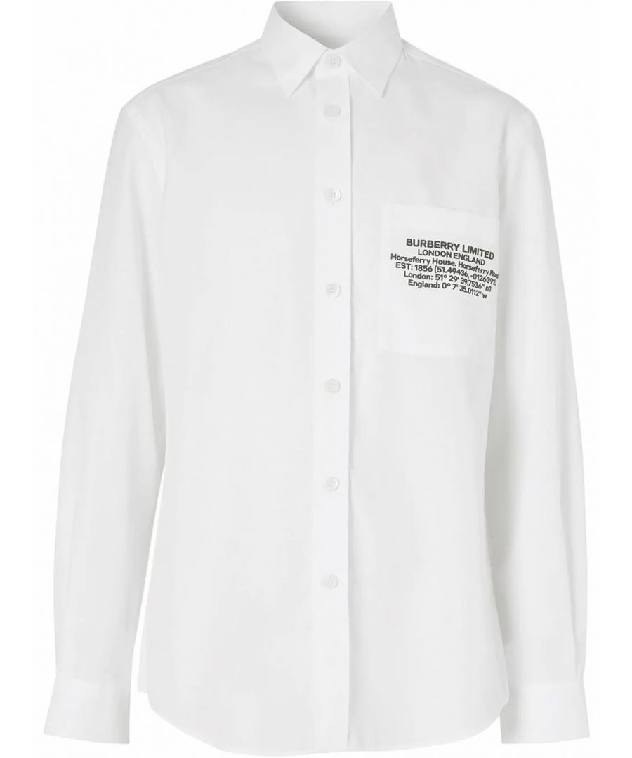 Image for BURBERRY MEN'S 8028220 WHITE COTTON SHIRT