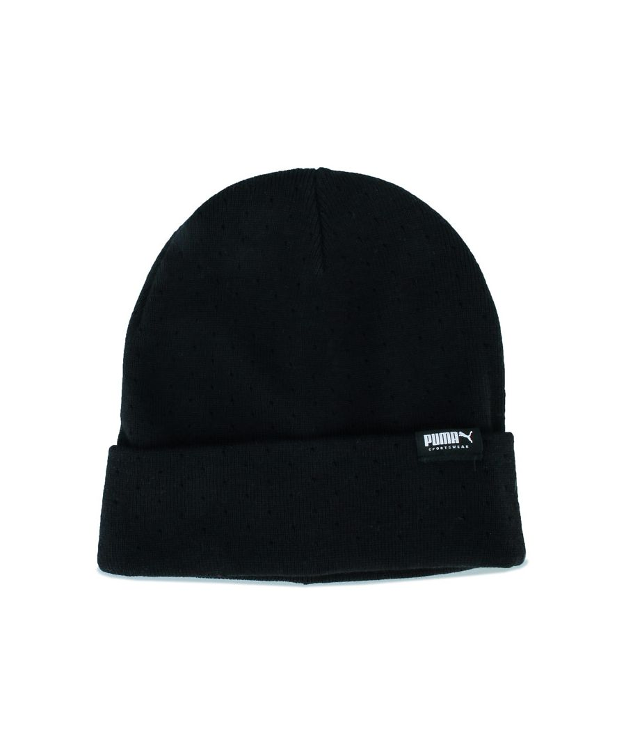 Image for Puma Fold Up Beanie in Black