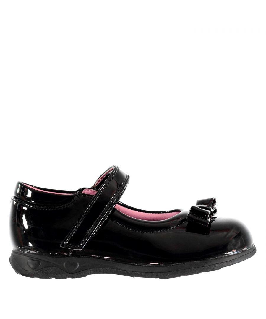 Image for Miss Fiori Kids F Mj Bow Girls Infants Children School Formal Shoes Footwear