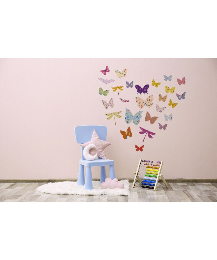 Image for Wall Art - Floral Butterflies Stickers