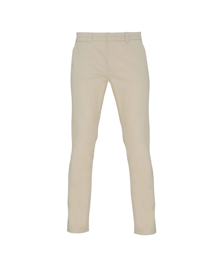 Image for Asquith & Fox Womens/Ladies Casual Chino Trousers (Natural)