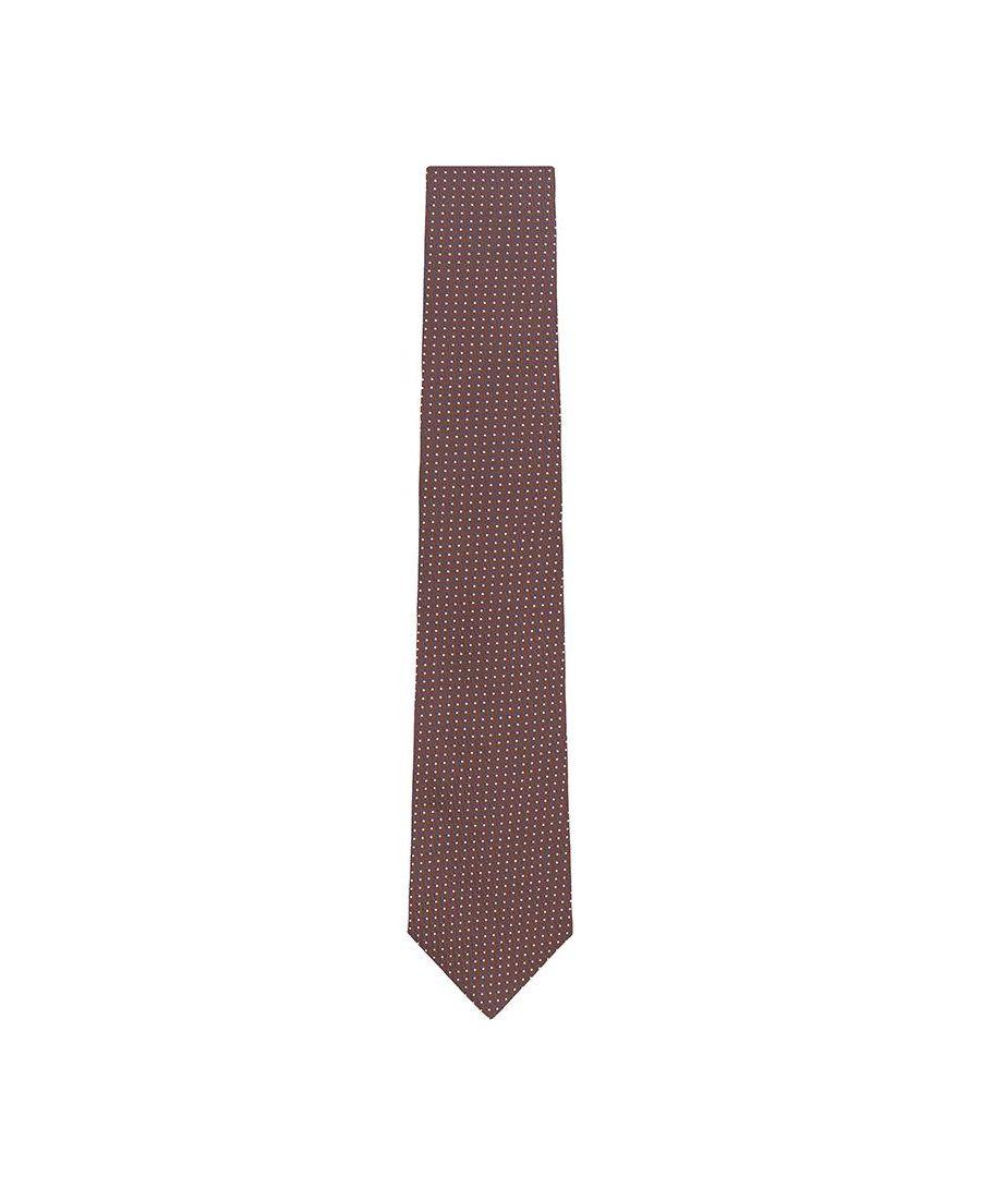 Image for Men's Hackett Mayfair Two Polka Dot Tie in Brown & Blue