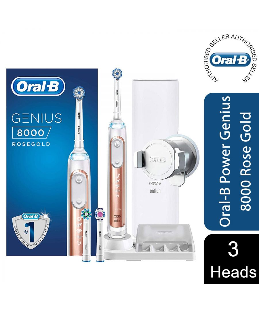 Image for Oral-B Genius 8000 Rechargeable Electric Deep Clean Toothbrush Rose Gold