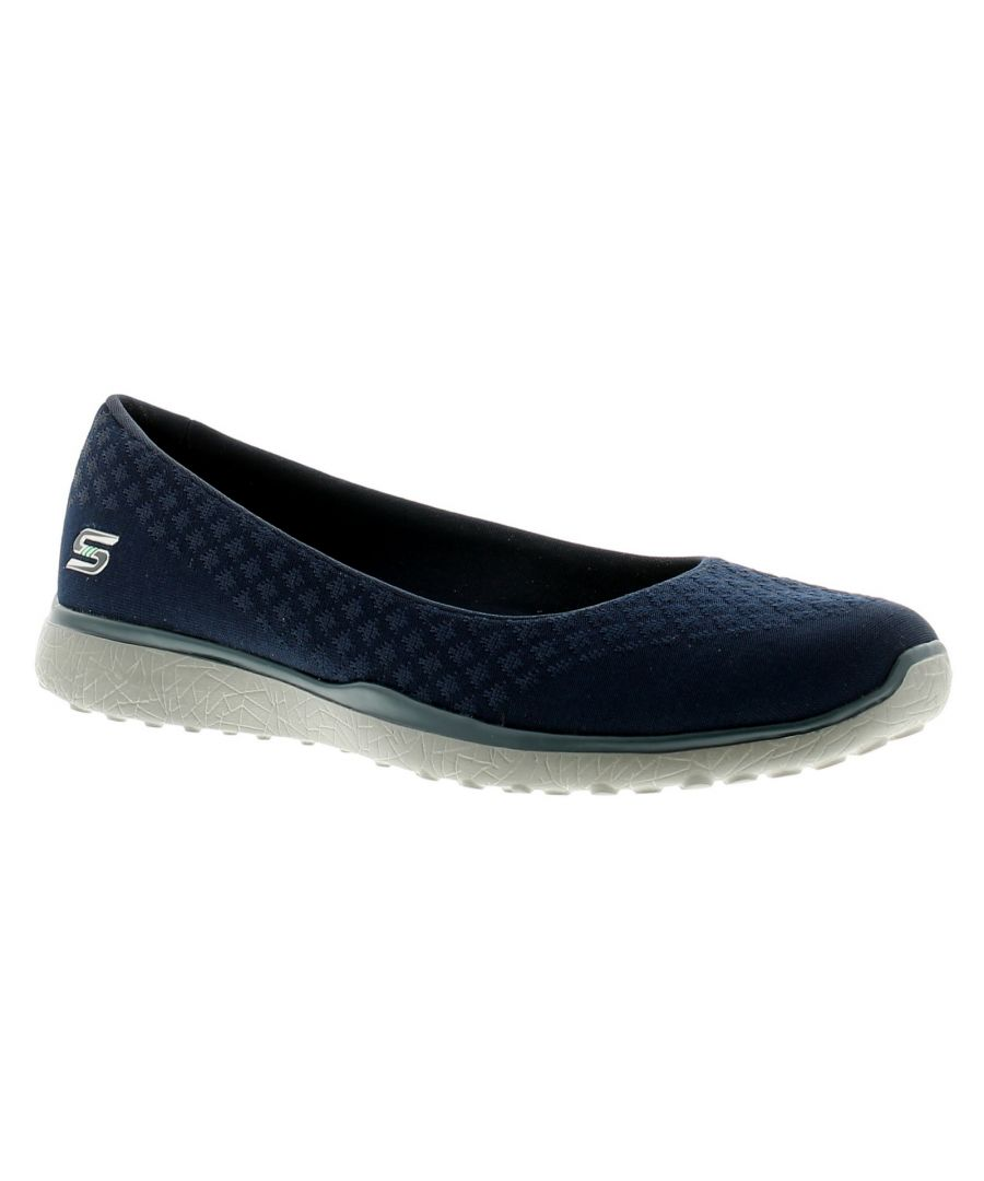 Image for Skechers Microburst On-Up Womens Ladies Trainers Navy