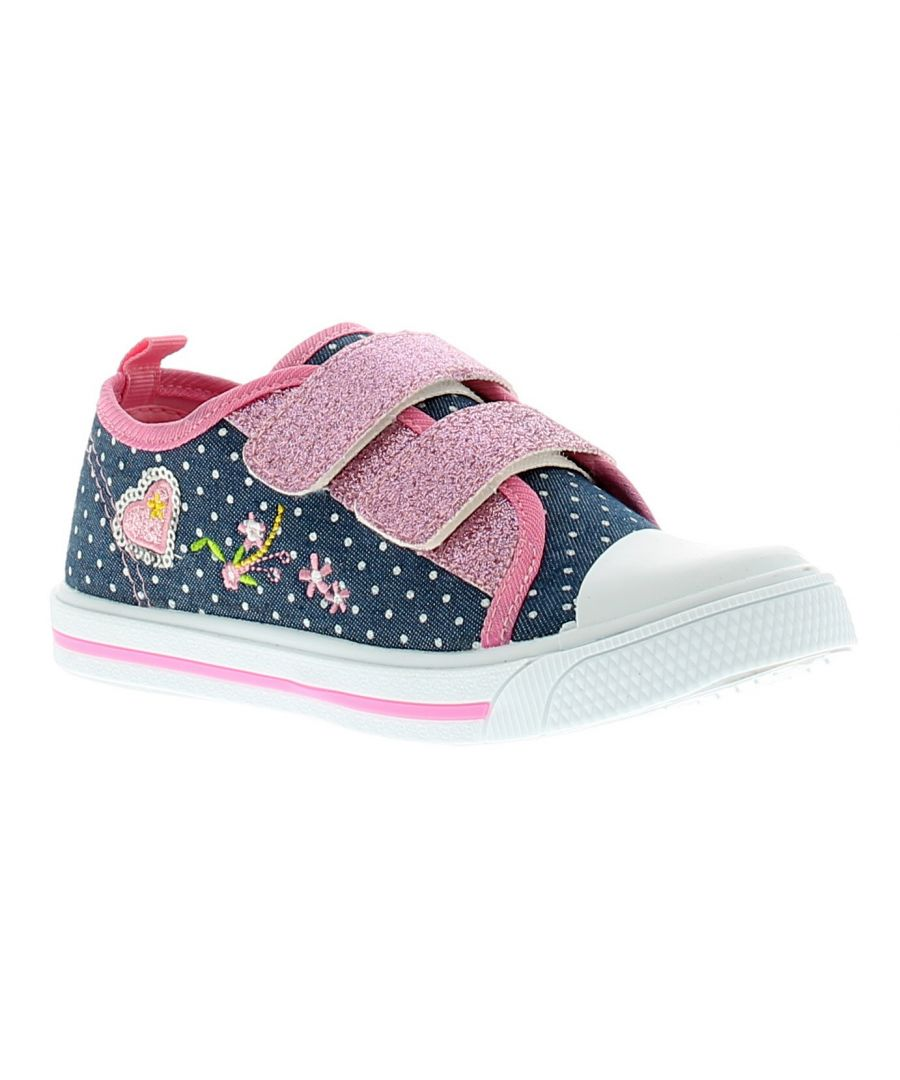 Image for Princess Stardust Lucy Girls Kids Canvas Shoes Pumps Trainers Blue