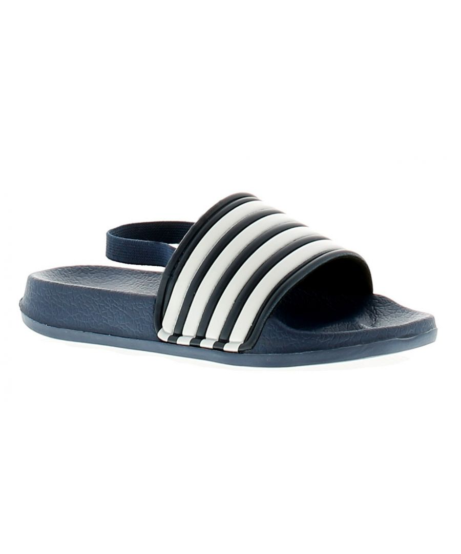 Image for Chatterbox Maddox Boys Kids Beach Summer Sandals Royal Blue/White