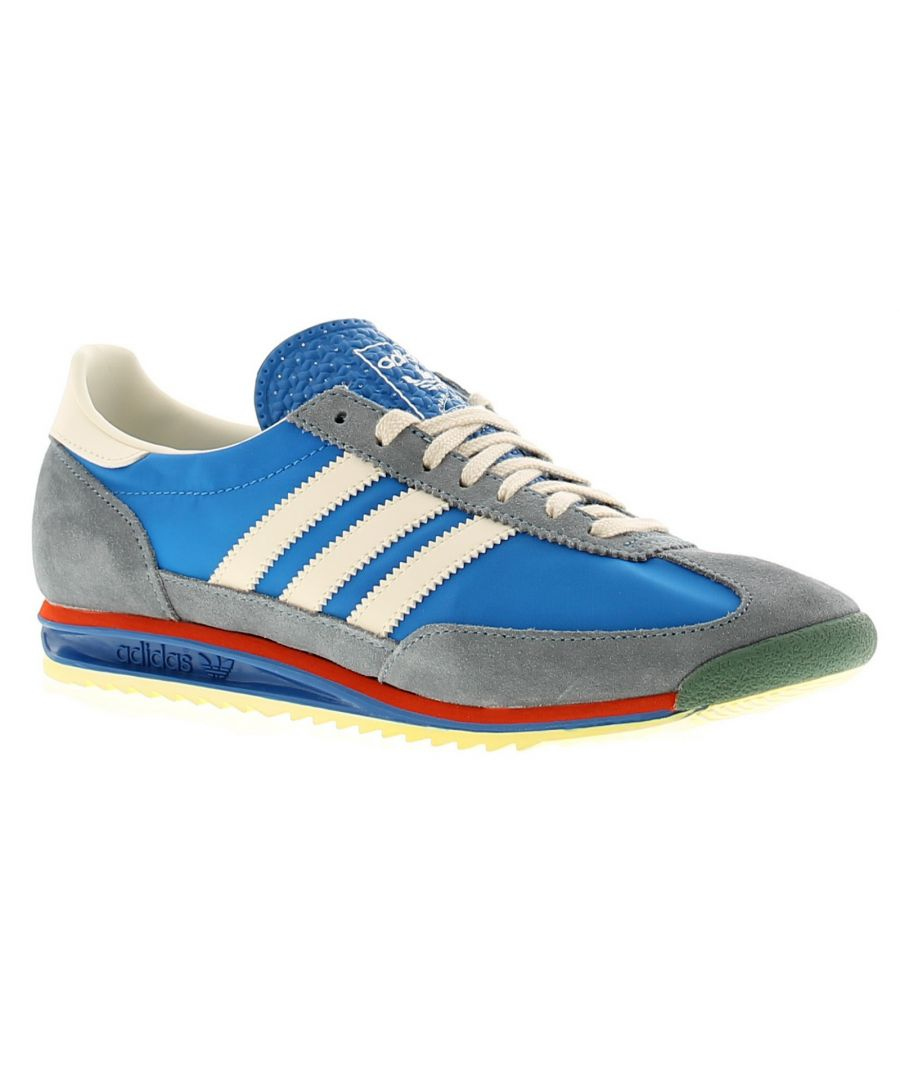 Image for Adidas Originals sl72 mens trainers blue