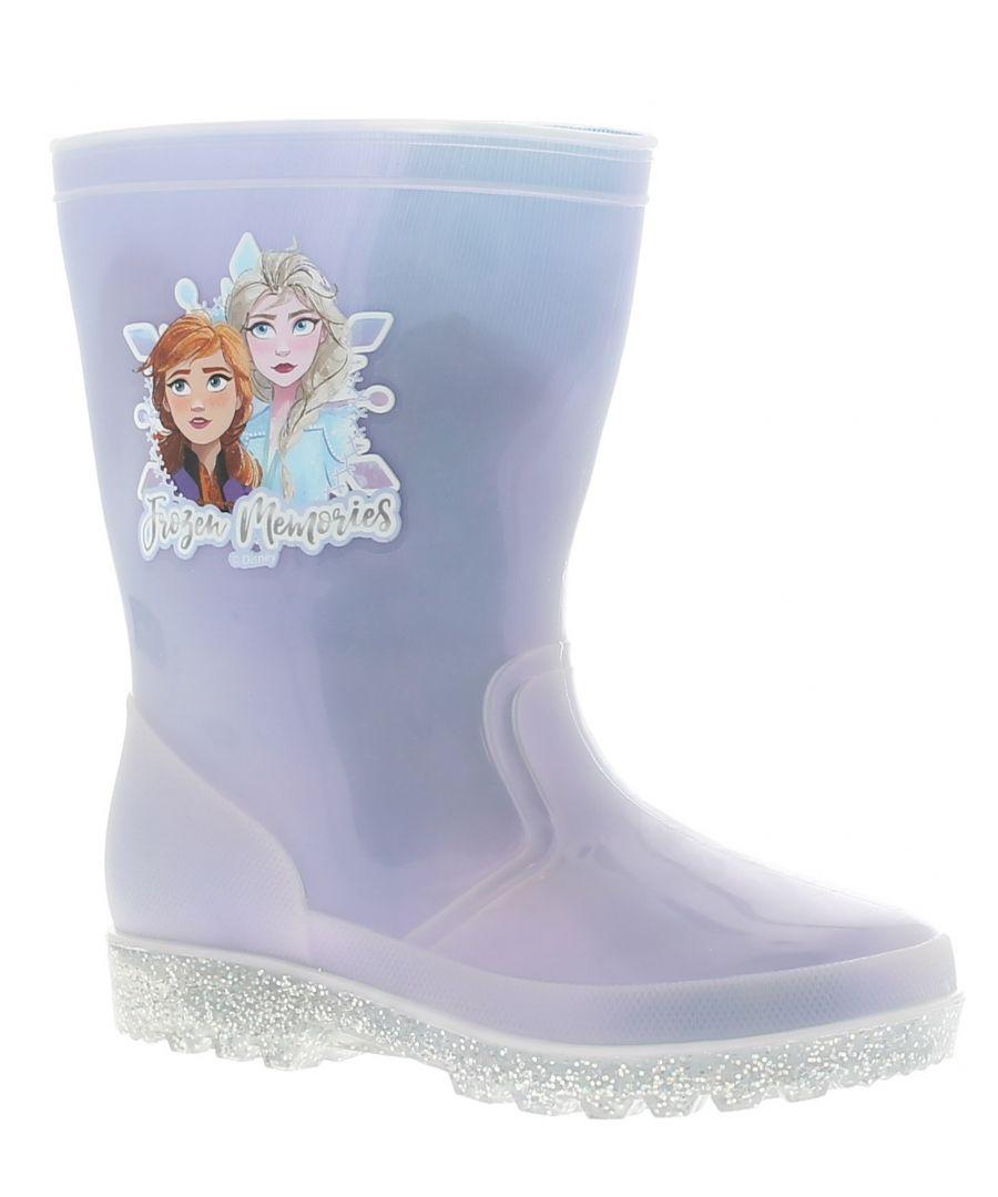 Image for Frozen fr2 delphi girls kids wellies wellington boots blue