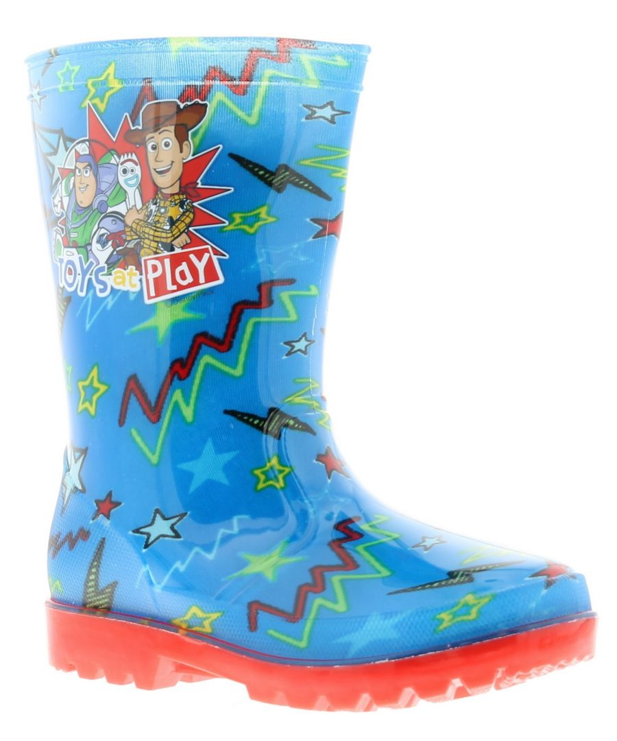 Image for Childs Novelty Wellington Toy Story Transfer To Sidewall Contrast Pvc Outsole