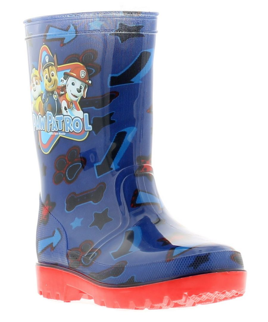 Image for Paw Patrol lynx younger boys wellies wellington boots blue