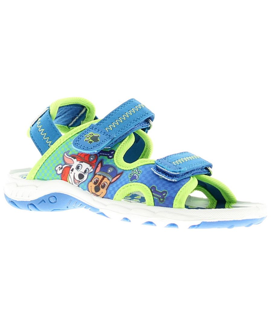 Image for Younger Boys Twin Return Touch Fastening Adventure Sandal Lycra Upper With Marshall And Chase Art Wo