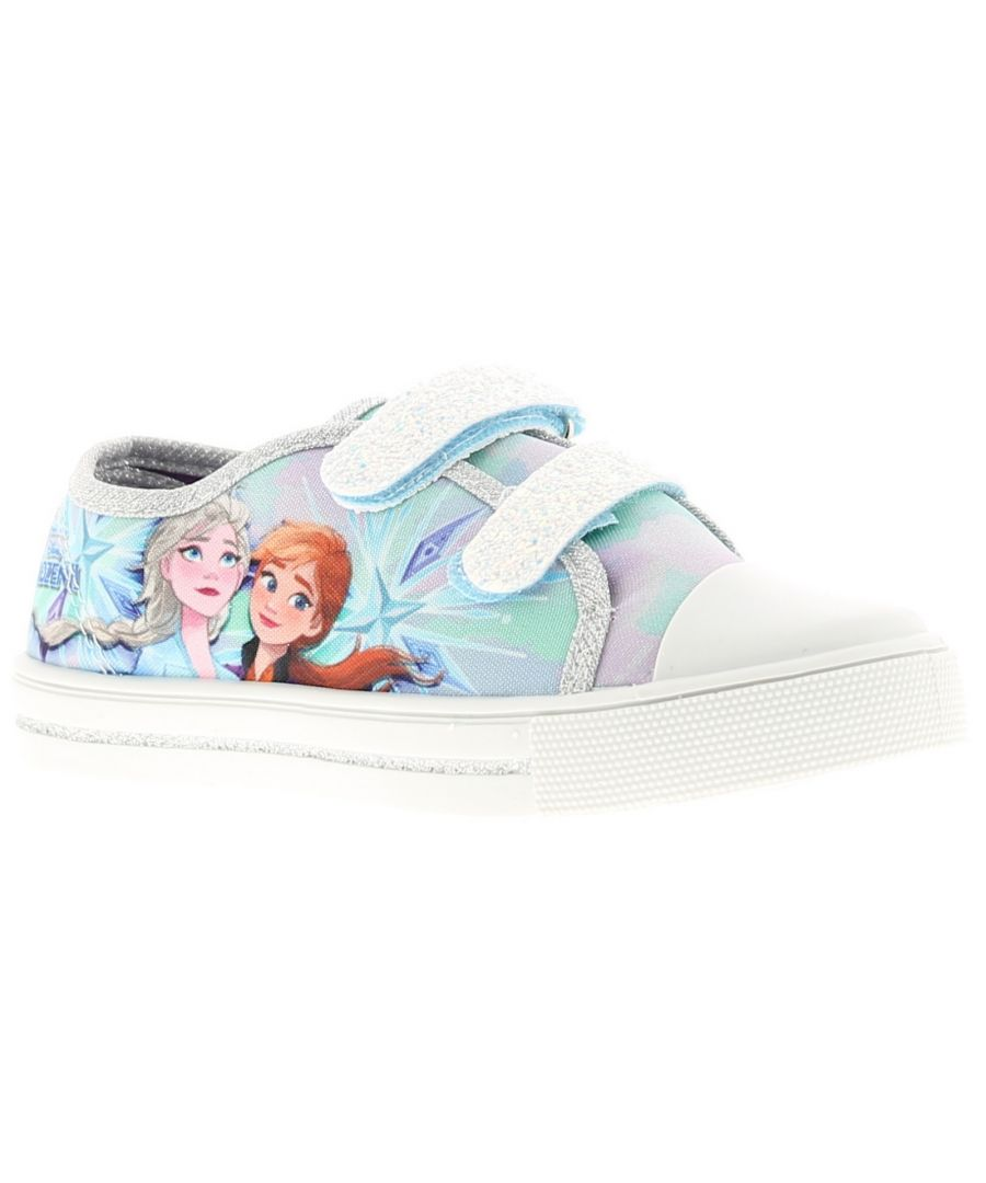 Image for Younger Girls Twin touch fastening Canvas Shoe Heavy Glitter Detail To The touch fastening Frozen Pr