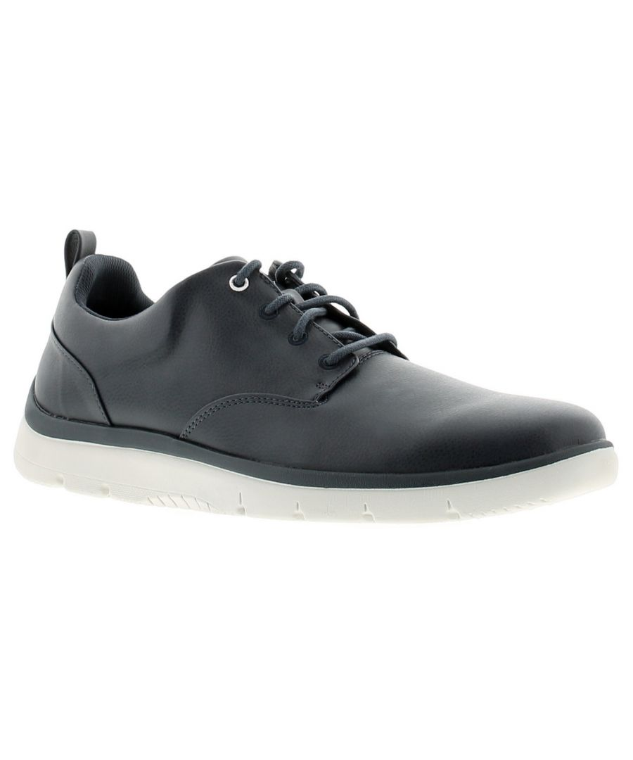 Image for Clarks tunsil lane mens casual shoes dark blue