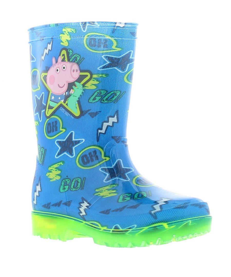 Image for Peppa Pig george rufa boys kids wellies wellington boots blue