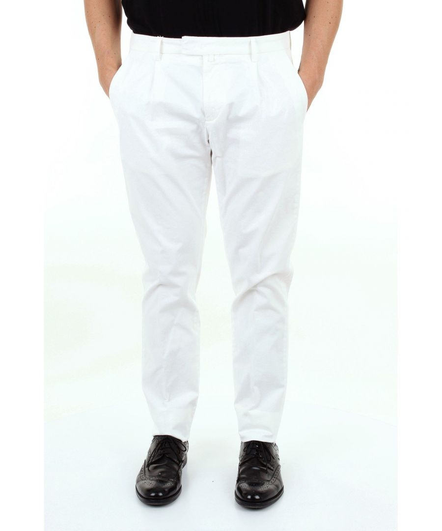 Image for BRIGLIA 1949 MEN'S BG073908BIANCO WHITE COTTON PANTS