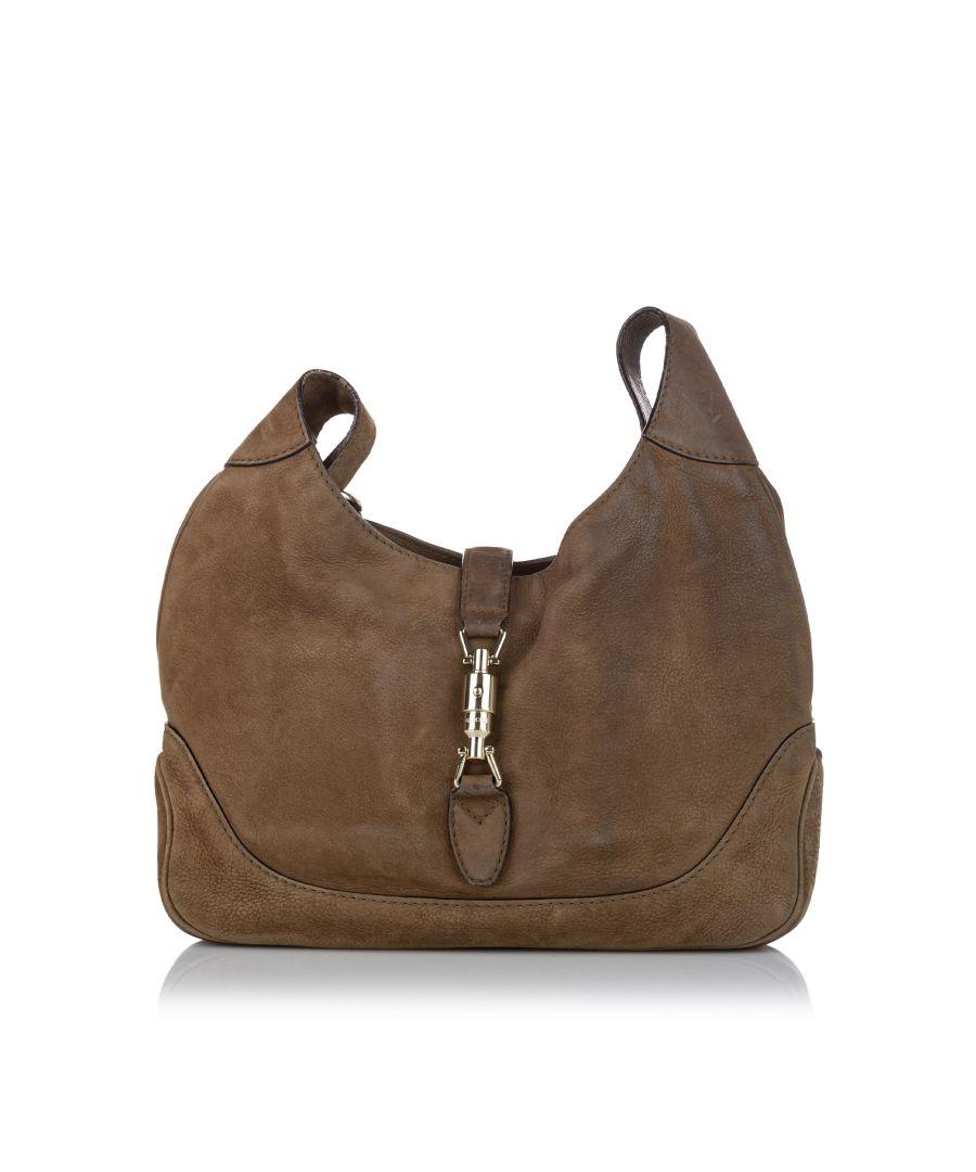 Image for Vintage Gucci New Jackie Suede Shoulder Bag Brown