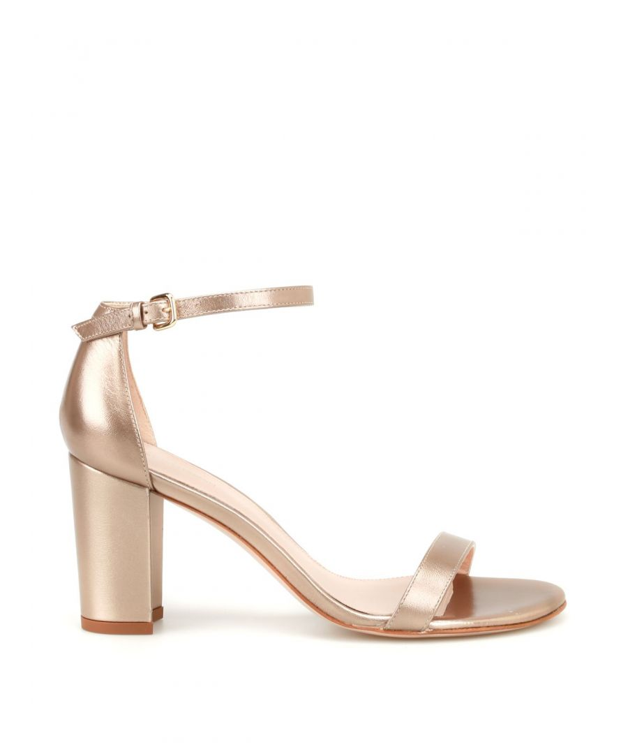 Image for STUART WEITZMAN WOMEN'S NEARLYNUDEBEIGE PINK LEATHER SANDALS