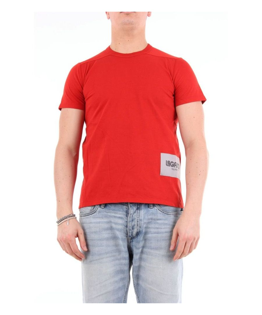 Image for RICK OWENS MEN'S RU19F4265ROSSO RED COTTON T-SHIRT