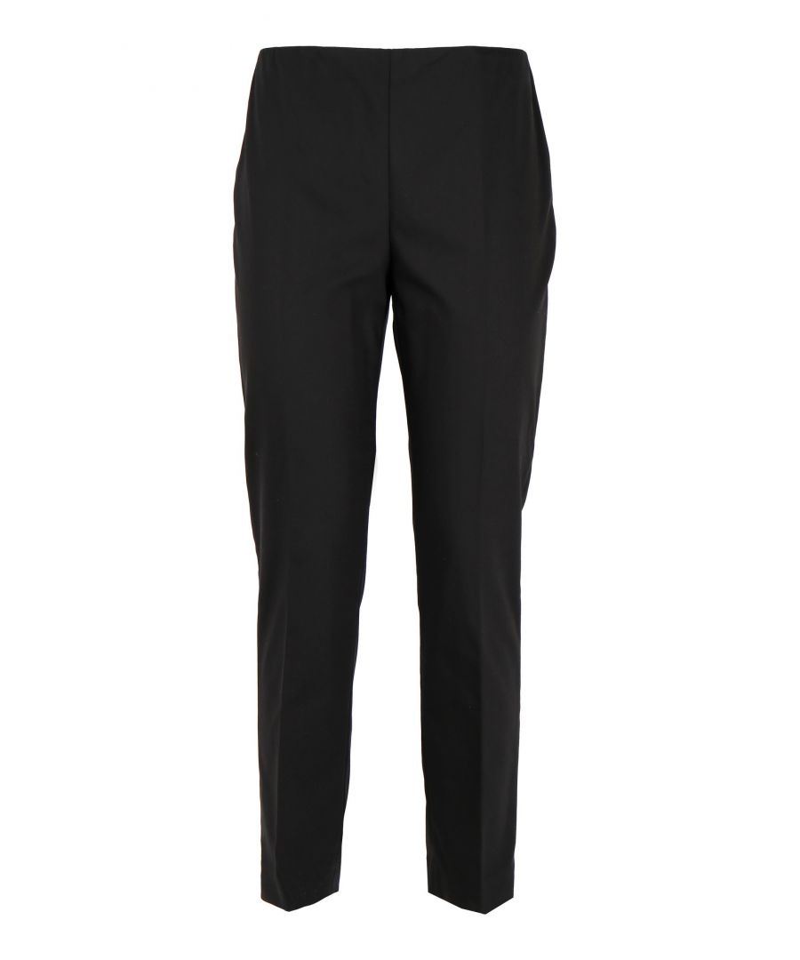 Image for LES COPAINS WOMEN'S 0L37830131 BLACK COTTON PANTS