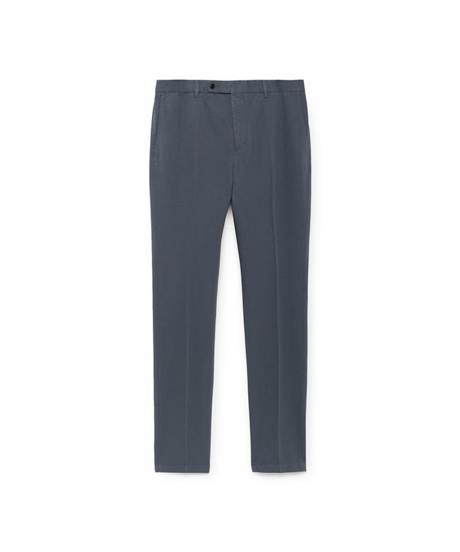 Image for Men's Hackett Mayfair Cotton Linen Chinos in Thames