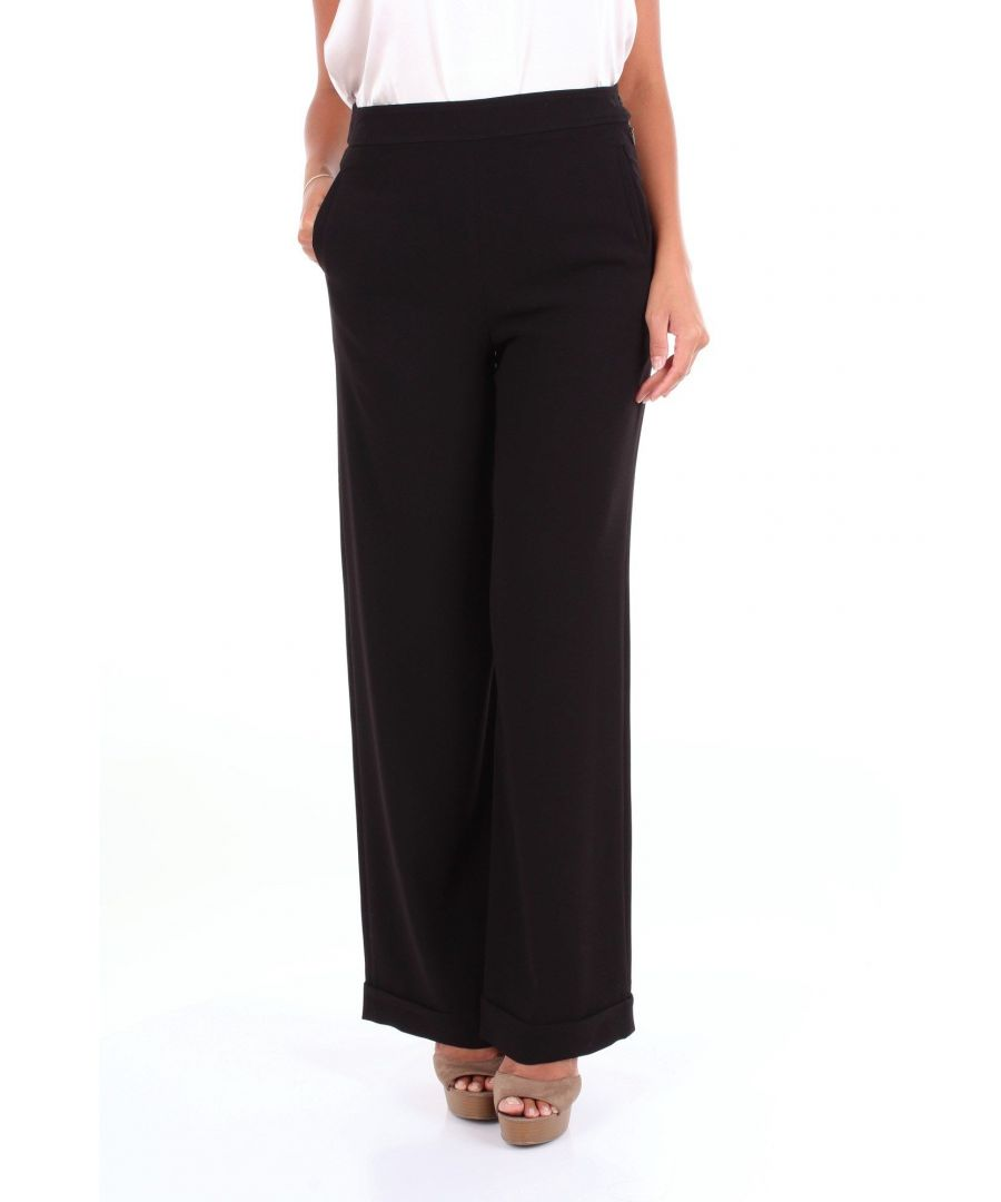 Image for MCQ BY ALEXANDER MCQUEEN WOMEN'S 528738RMF15 BLACK ACETATE PANTS