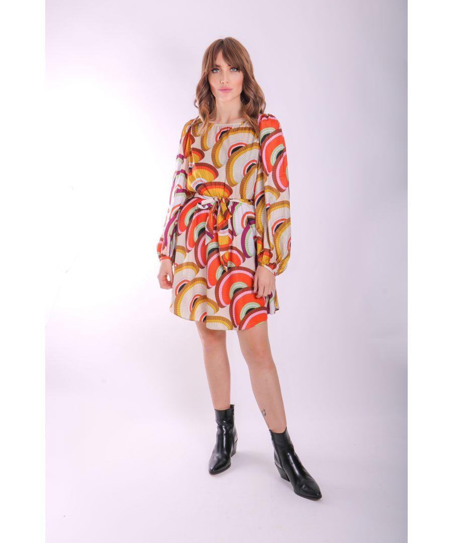 Image for Lily Geometric Long Sleeve Mini Dress