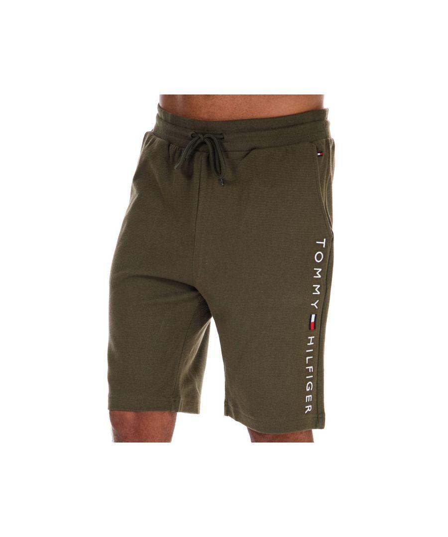 Image for Men's Tommy Hilfiger Organic Cotton Drawstring Shorts Green Sin Green