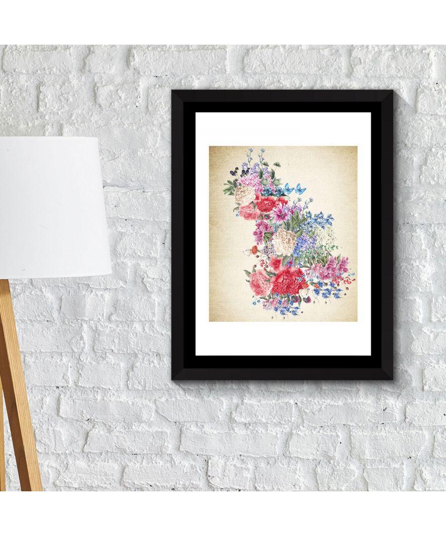 Image for Walplus Framed Art 2in1 Flower Arts 1 Poster wall decal, wall decal flowers, Framed Photo, Framed Art