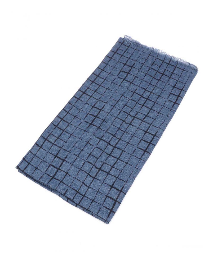 Image for ALTEA MEN'S 19500262 BLUE LINEN SCARF