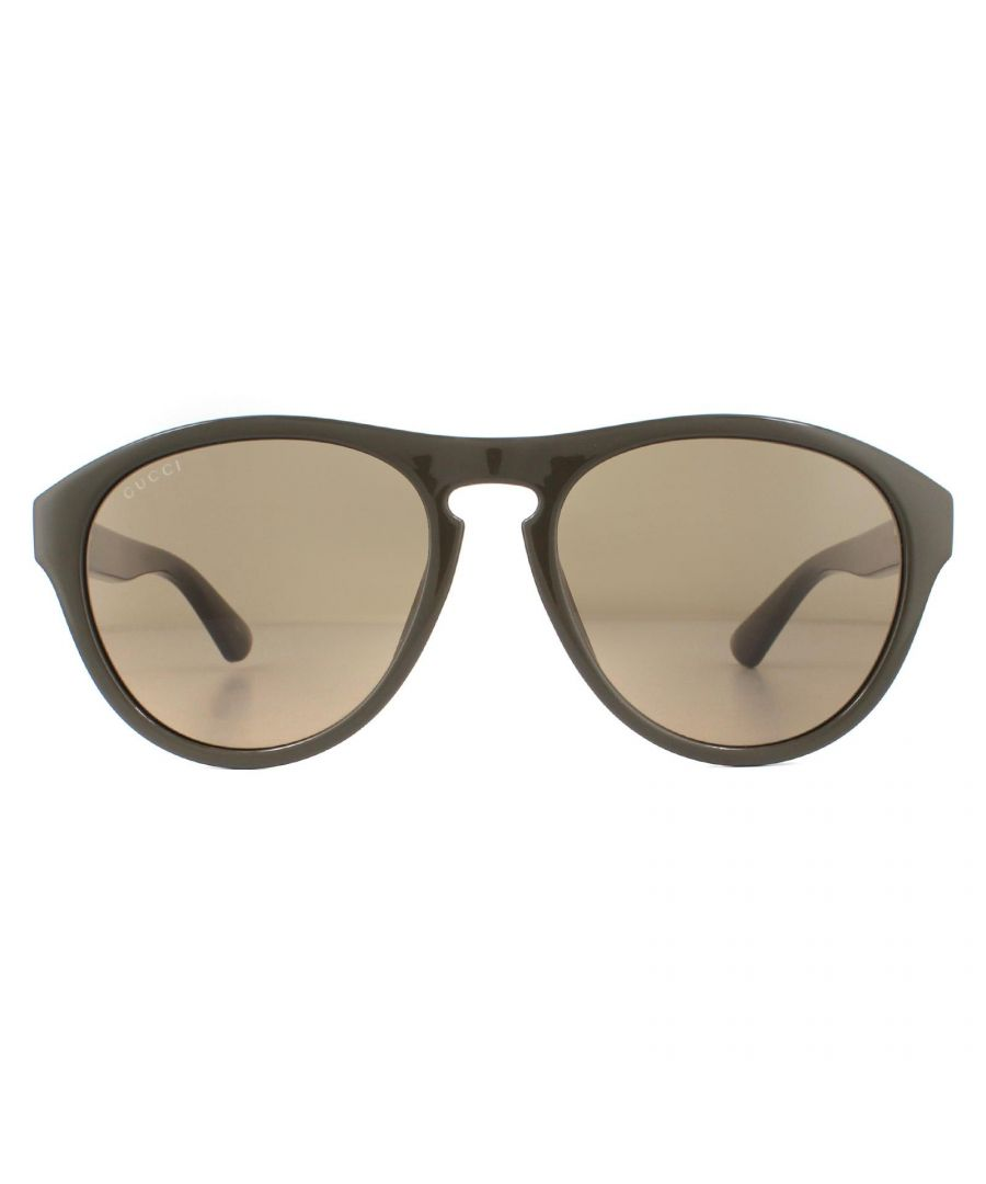 Image for Gucci Sunglasses GG0747S 004 Green Brown