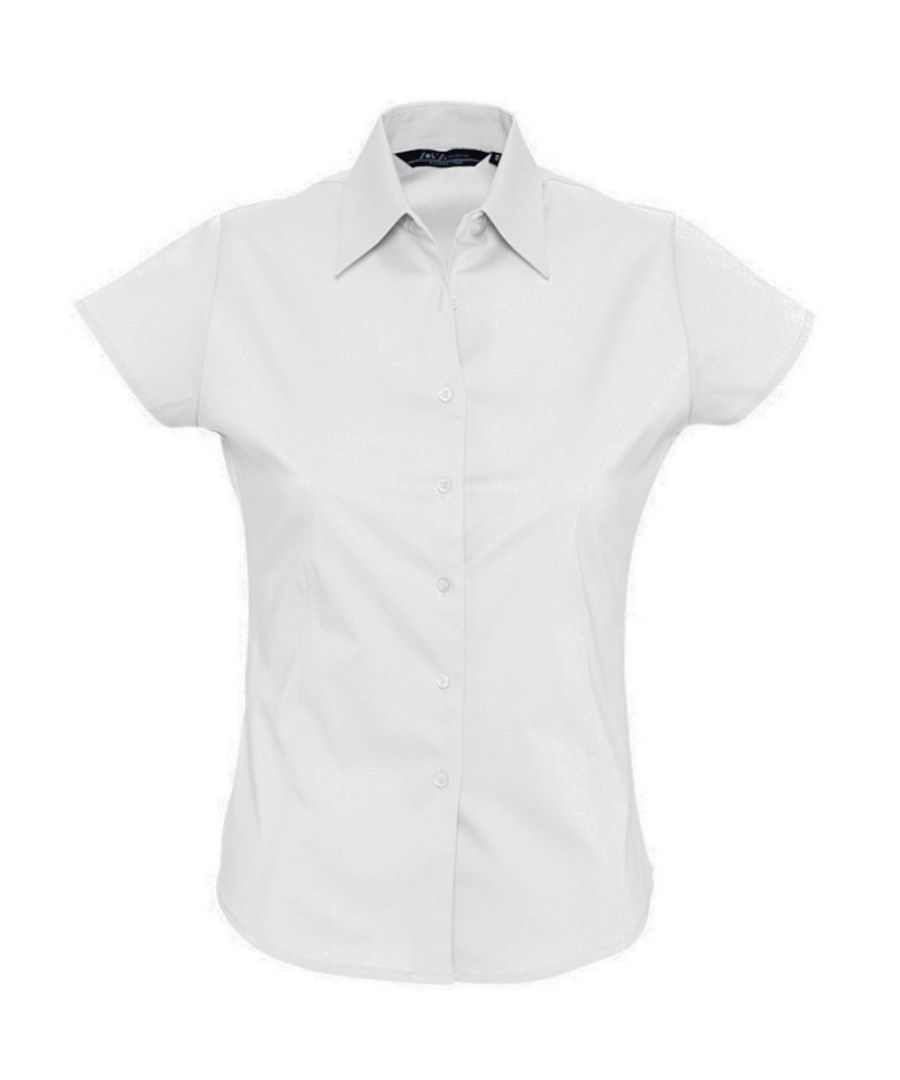 Image for SOLS Womens/Ladies Excess Short Sleeve Fitted Work Shirt (White)