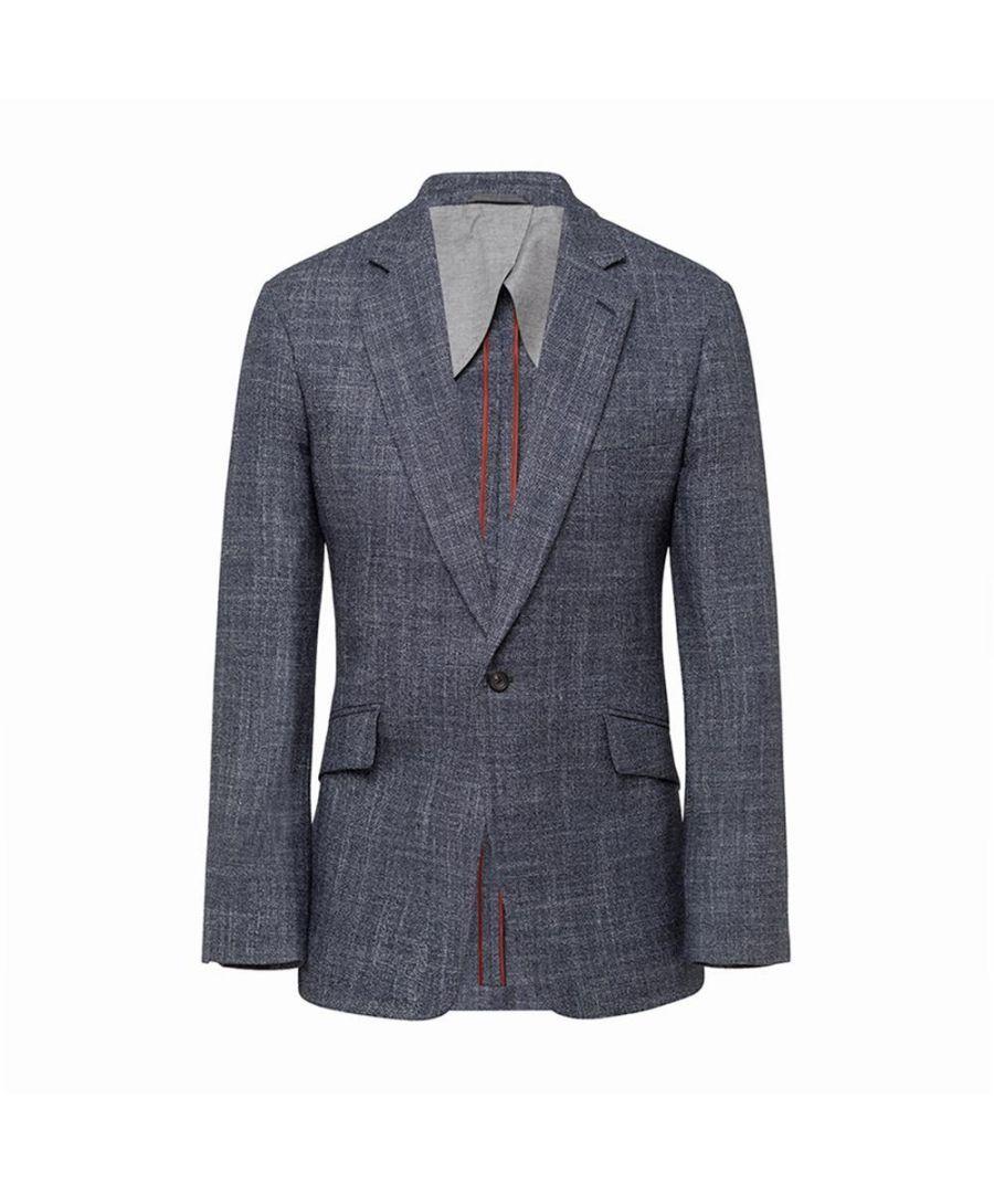 Image for Men's Hackett, Mayfair Wool, Silk & Cashmere Texture Jacket in Grey