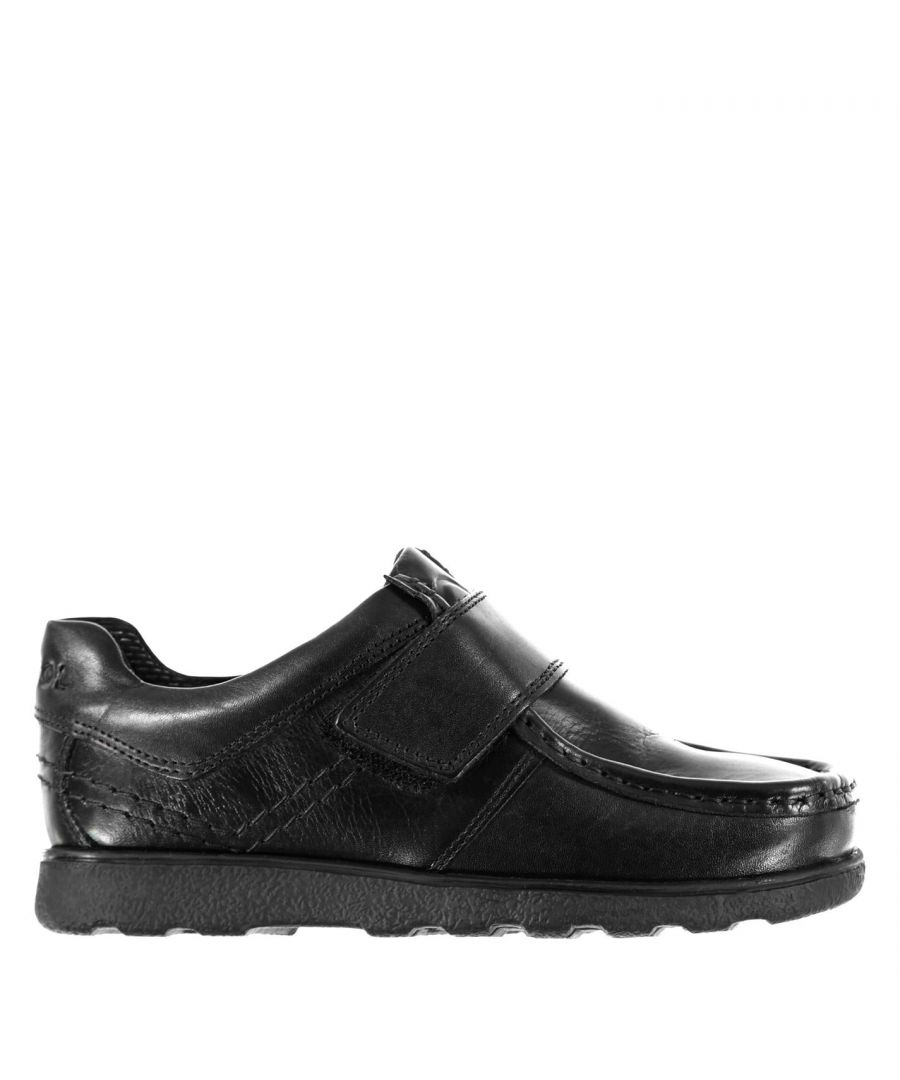 Image for Kangol Kids Waltham Boys Hook and Loop Leather Shoes Padded Ankle Collar Slip On