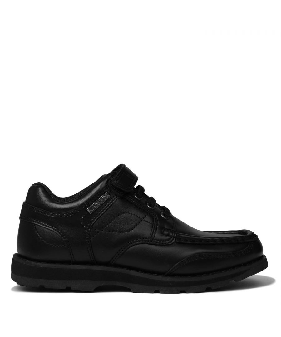 Image for Kangol Kids Harrow Lace Boys Smart Hook and Loop Leather Everyday Shoes