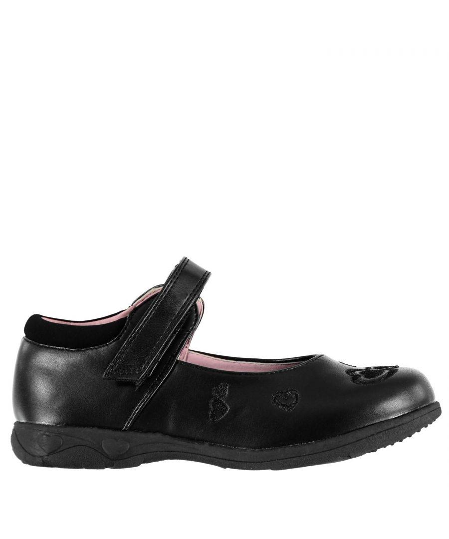Image for Miss Fiori Kids F Shelly Em Girls Children School Formal Shoes Footwear