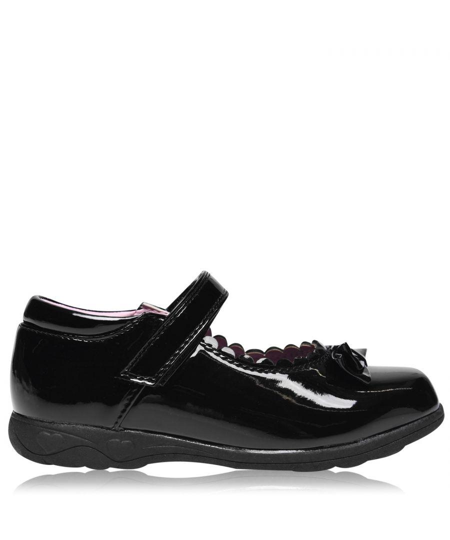 Image for Miss Fiori Kids F MJ Bow Girls Children School Formal Shoes Footwear