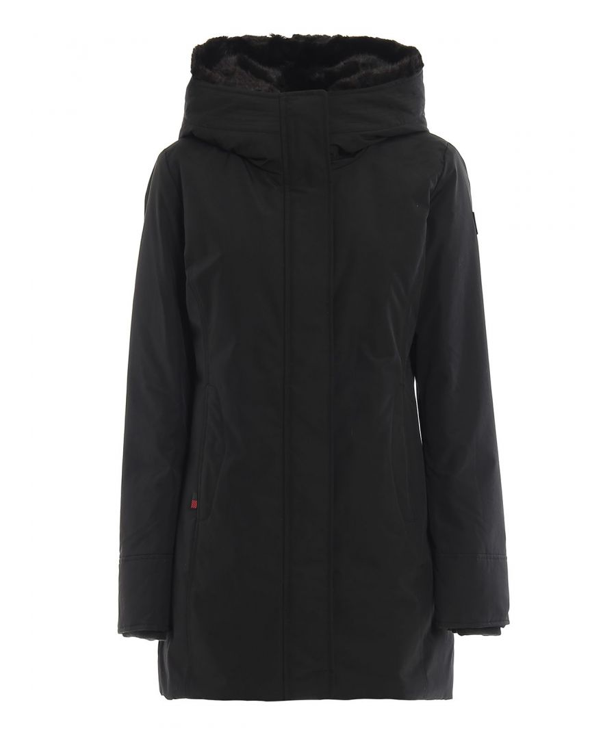Image for WOOLRICH WOMEN'S WWCPS2803UT0001BLK BLACK COTTON OUTERWEAR JACKET