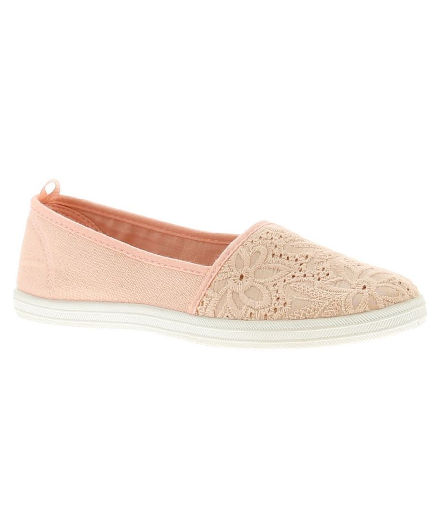 Image for Comfort Plus Womens Ladies Canvas Shoes Pumps Trainers Nude