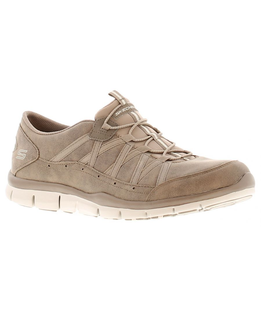 Image for Skechers sk gratis fine taste womens ladies trainers beige