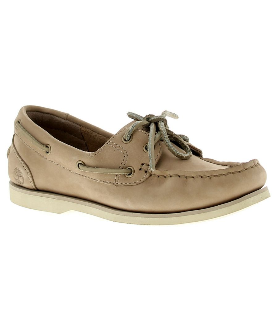 Image for Timberland Tmbl A1Nb2 Womens Ladies Flats Shoes Beige