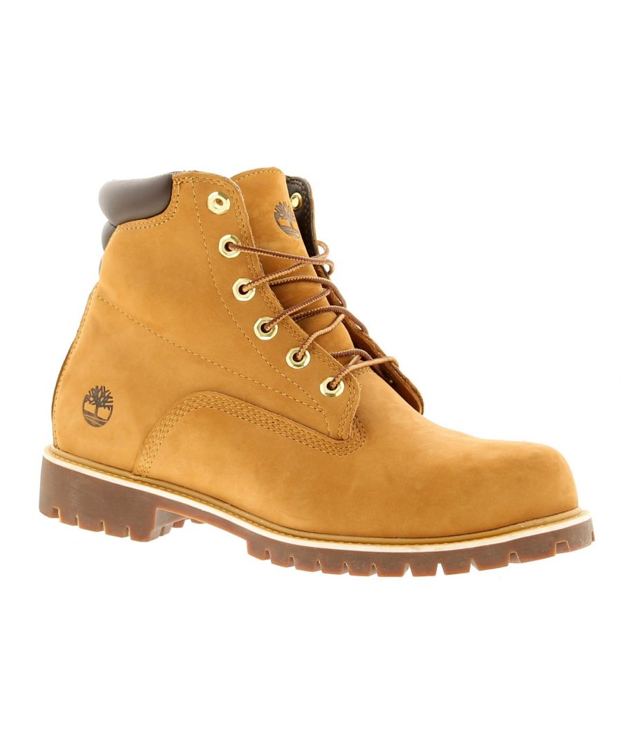 Image for Timberland basic leather mens boots beige