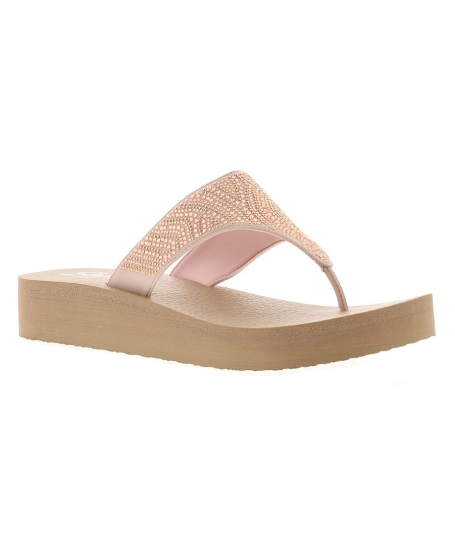 Image for Ladies Yoga Foam Toe Post Sandal Jewl Design To The Upper, Slip On With Toe Post Memory Foam With We