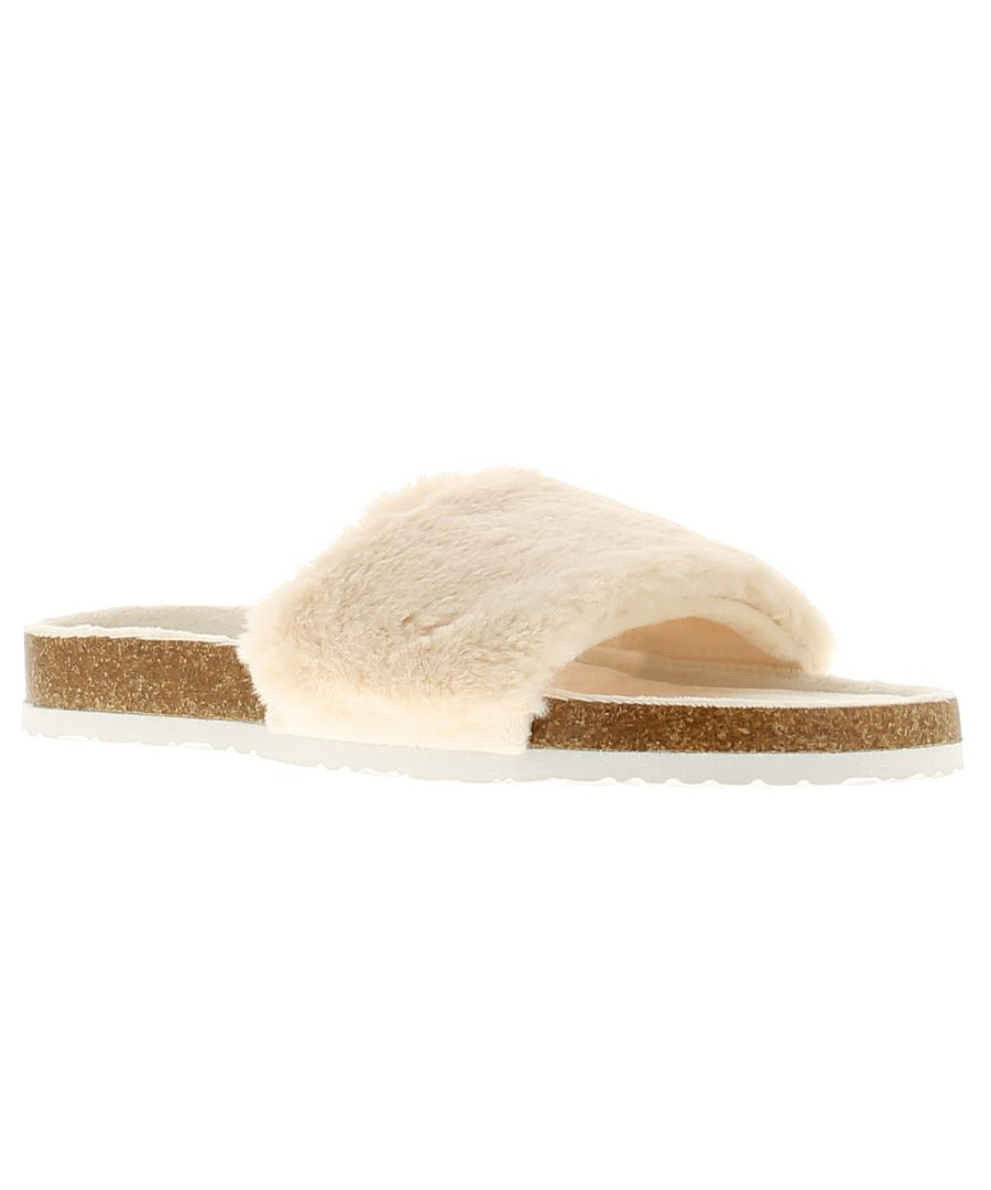 Image for Wynsors luxe womens ladies slip on slippers beige