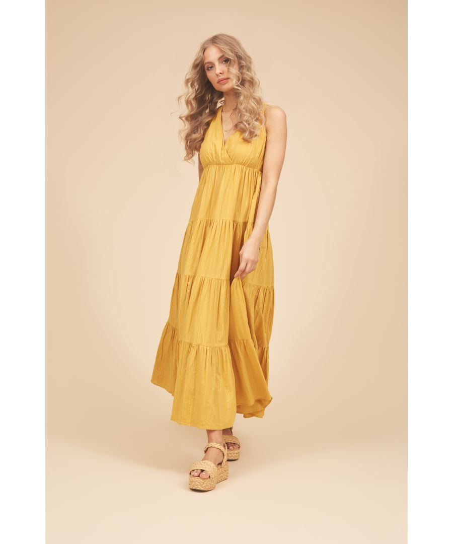 Image for Sleeveless Gaia Maxi Dress in Mustard