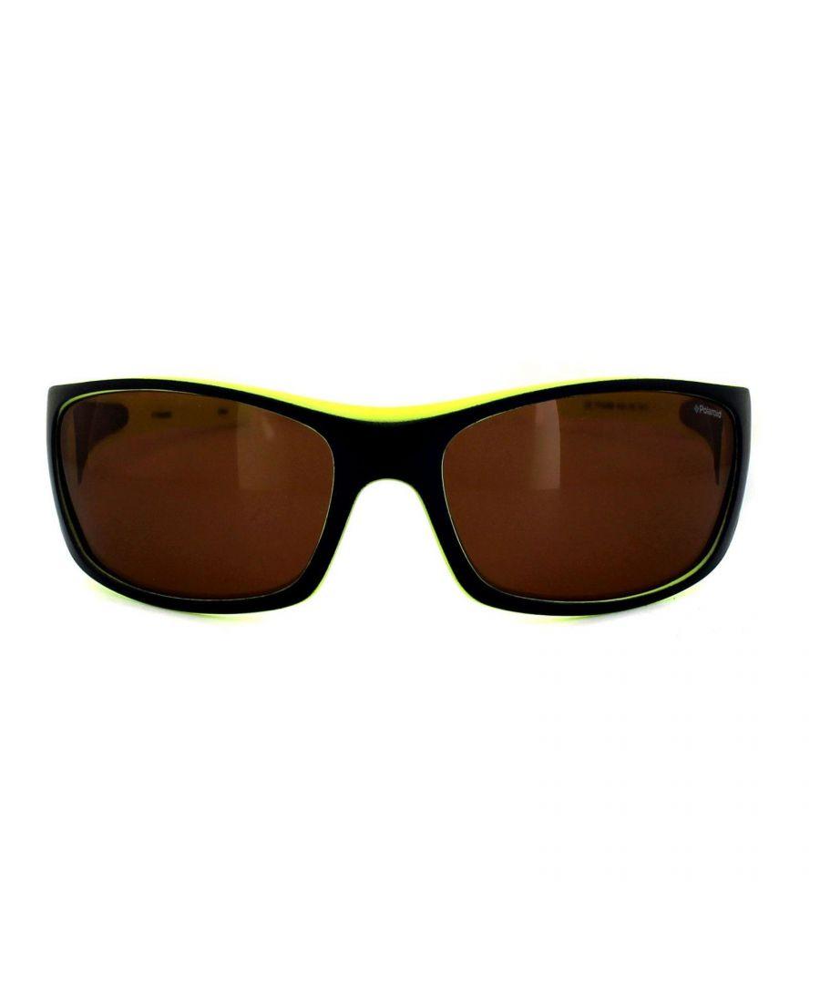 Image for Polaroid Sport Sunglasses P7420 KEA HE Blue & Lime Copper Polarized