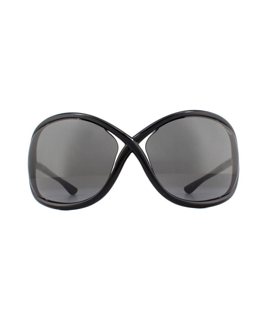Image for Tom Ford Sunglasses 0008 Jennifer 199 Shiny Black Smoke Grey